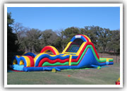 inflatable obstacle course with slide